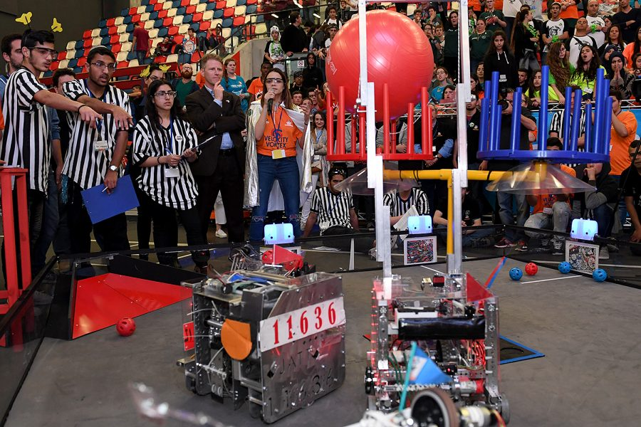 An image from the Velocity Vortex FTC Challenge