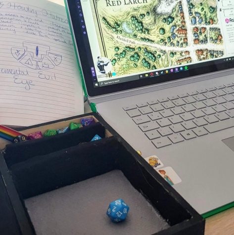 A night of Dungeons and Dragons includes rolling dice, checking maps, and taking notes.